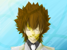 KHR - Tsuna speedpaint by GKA