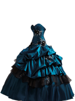 Teal Ball Gown PNG by Vixen1978