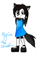 alycia the cat-wolf by deliaku