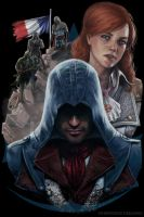 Assasin's Creed  Unity Oficcial T-shirt Contest by Sonia-bessona