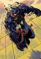 Spidey vs Venom colored by jel