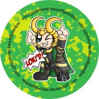 Loki Chibi Badge by RedPawDesigns