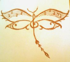 Dragonfly Music - Rough Sketch by Lyds0390