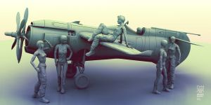 Figuras Cafe Air Racer by AltoContrasteStudio