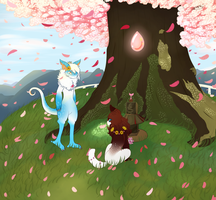 [Spring Prompt] Watching Over Us by SlaySlothEsikmo