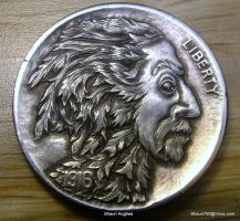 Greenman Hand Carved Coin by Shaun Hughes by shaun750
