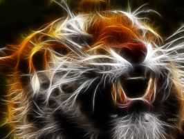 Neon tiger by beebz1311