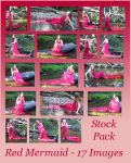 Stock Pack - Red Mermaid by Gracies-Stock