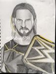 Seth Rollins Drawing 5 by WhitneyHarris