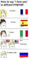 APH - How to say I love you in Different Language by XGirl-GamerX