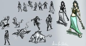 sketch dump by therealarien