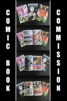 Comic Book Commissions by mja42x