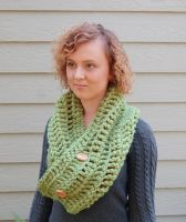 Green Cowl by VanillaBeanCafe