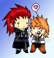 Axel to my Roxas by KeyshaKitty