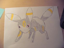 umbreon uncolored by SweetKey