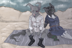 By the beautiful sea by cafevilkas