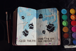 Wreck This Journal: Page 120, 121 by MarketaKindlova