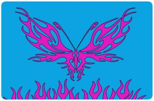 Toshiba Pink Butterfly by TechII