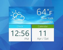 Galaxy S5 Square Widget for xwidget by jimking