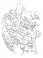 Avengers, inspired by Kirby and Buscema by GabrielMayorga1