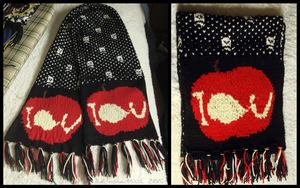 Moriarty-Themed 'IOU' Scarf by ThePeculiarMissE