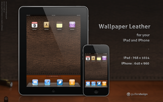 iPad-iPhone .Wallpaper Leather by GuillenDesign