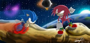 Sonic and Knuckles by hail-swinehouse