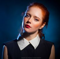 red-blue portrait by DenisGoncharov
