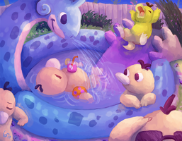 Psyduck Pool Party!