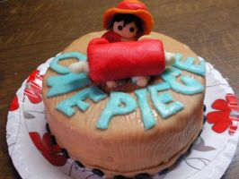 Luffy on the cake by MARCELAJIRASKOVA1997
