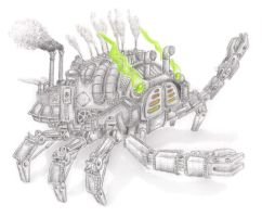 Steampunk Crab by Neon55555