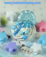 Blue lollipop ring by The-Cute-Storm
