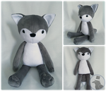Wolf Plushie by TheRuffledRaven