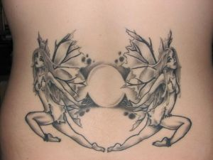 Cute Lower Back Fairy Tattoos picture 3
