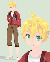 [MMD] English Substitute Len +DL by BananaTeaPot