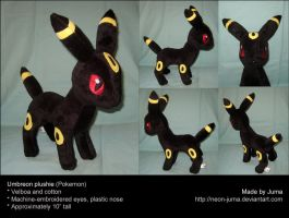 Standing Umbreon plushie 2 by Neon-Juma