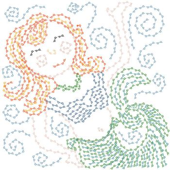 Digitally Embroidered Mermaid by lehsa