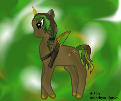 Mlp Golden Arrow Oc by Amethyst--Dawn