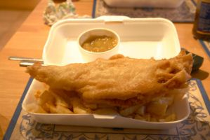 Fish, Chips and Curry Sauce by manicstreetpreacher