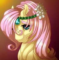 Fluttershy Portrait by KittehKatBar