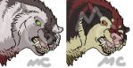 Snarly Wolf Port by CreatureCreatingBabe
