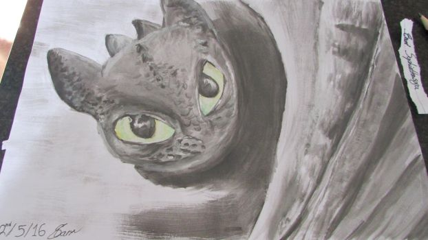 Toothless - How to train your dragon by Sophiethesofa
