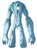 Ice Golem colored by Message-Err