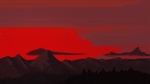 Mountains in a sunset by RuosteVaara