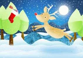 Rudolph's Christmas stocking by HannahChapman