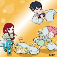 Pillow fight by hinaru-chan