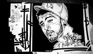 TravieMcCoy graffiti sketch by Wiiiz182