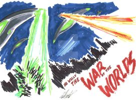 War of the Worlds Con Sketch by tedwoodsart