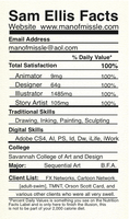 Nutrition Facts by MissleMan