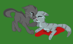 Graystripe and Silverstream by Lovelye